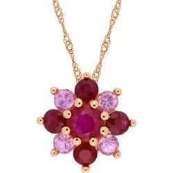 Rina Limor 14K Rose Gold 1.85 ct. tw. Gemstone Pendant Necklace found on Bargain Bro India from Gilt City for $599.99