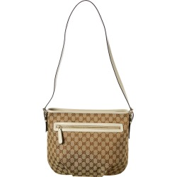 Gucci Brown GG Canvas & Cream Leather Shoulder Bag found on MODAPINS from Ruelala for USD $625.00