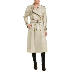 Burberry Laminated Gabardine Long-Length Trench Coat found on Bargain Bro India from Gilt City for $849.99