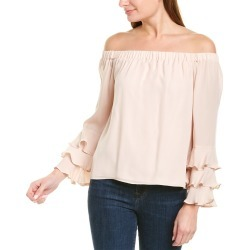 Nicole Miller Off-the-Shoulder Silk Top found on MODAPINS from Ruelala for USD $59.99