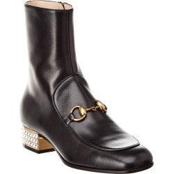 Gucci GG Horsebit Crystal Heel Leather Ankle Boot found on MODAPINS from Gilt for USD $1099.99