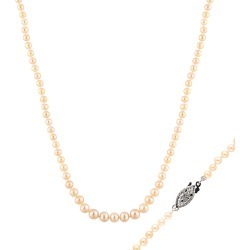 Splendid Pearls Rhodium Plated 4-8mm Freshwater Pearl Necklace found on Bargain Bro India from Gilt City for $69.99