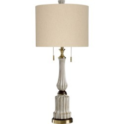 Style Craft 38in Souga Cream Table Lamp