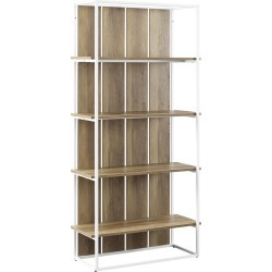 Hewson 64in Farmhouse Wood Storage Bookcase found on Bargain Bro Philippines from Ruelala for $219.99