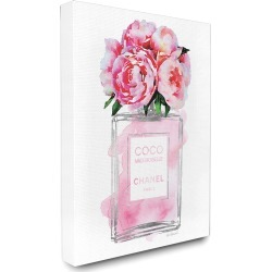 Stupell Glam Perfume Bottle V2 Flower Silver Pink Peony Canvas Art found on Bargain Bro Philippines from Gilt City for $69.99