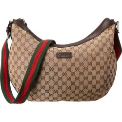 Gucci Brown GG Canvas & Leather Round Messenger Bag found on Bargain Bro India from Gilt City for $700.00