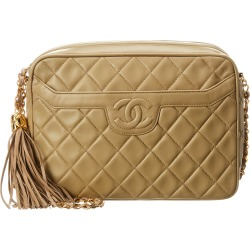 Chanel Beige Quilted Lambskin Leather Medium Camera Bag found on Bargain Bro India from Gilt City for $2550.00