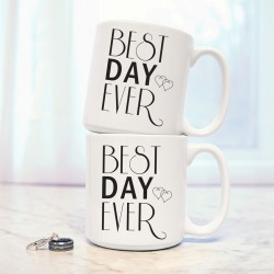 Cathys Concepts Best Day Ever Set of 2 20oz Large Coffee Mugs
