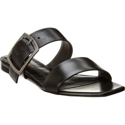 Saint Laurent Oak Leather Slide found on Bargain Bro India from Gilt City for $359.99