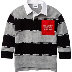 Burberry Logo Stripe Rugby Polo Shirt found on Bargain Bro India from Gilt for $219.99