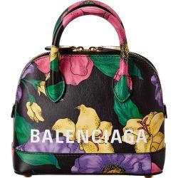 Balenciaga Ville XXS Floral Print Leather Shoulder Bag