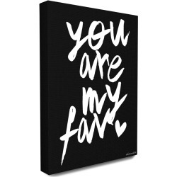 Stupell You Are My Fav B&W Canvas Wall Art by lulusimonSTUDIO found on Bargain Bro Philippines from Ruelala for $49.99