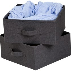 Honey-Can-Do 2-Pack Storage Drawers Grey Canvas