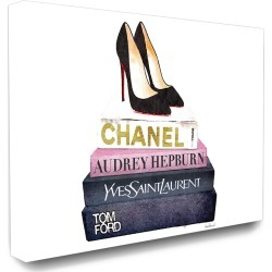Stupell Industries Glam Fashion Book Set Black Pump Heels