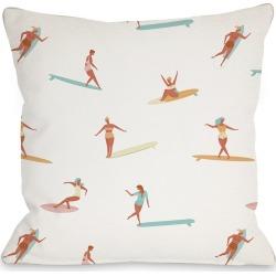 One Bella Casa Surf Babes Outdoor Pillow