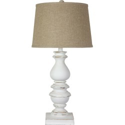 AHS Lighting & Home Decor 32in Bishop White Table Lamp found on Bargain Bro India from Gilt City for $119.99