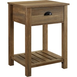 18in Country Single Drawer Side Table