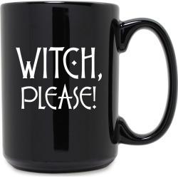 Susquehanna Glass Company Witch Please Grande 15oz Black Mug