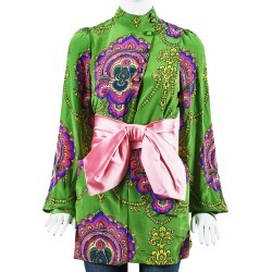 Gucci 2018 Paisley Silk-Blend Tunic Top found on Bargain Bro Philippines from Gilt City for $950.00