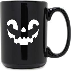 Susquehanna Glass Company Jack-o-Lantern Grande 15oz Black Mug