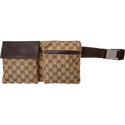 Gucci Brown GG Canvas & Leather Waist Pouch found on Bargain Bro India from Gilt for $650.00
