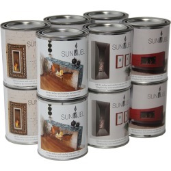 Anywhere Fireplaces 12pc Sunjel Gel Fuel Cans For Ventless Fireplaces found on Bargain Bro Philippines from Gilt for $69.99