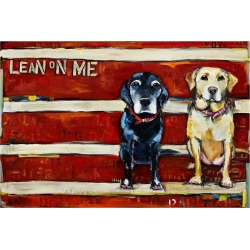 Marmont Hill Lean on Me Wrapped Canvas Print found on Bargain Bro Philippines from Gilt City for $79.99