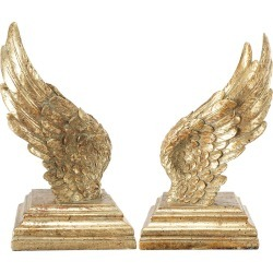 A&B Home Set of 2 Soar Wing Book Ends