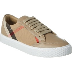 Burberry House Check Canvas & Leather Sneaker found on Bargain Bro India from Gilt for $311.00