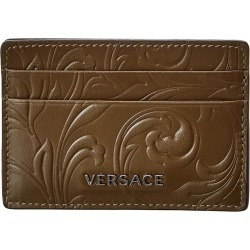 Versace Baroque Pattern Leather Card Holder found on Bargain Bro Philippines from Gilt for $179.99