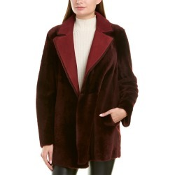 Theory Clairene Reversible Shearling Jacket found on Bargain Bro India from Ruelala for $719.99