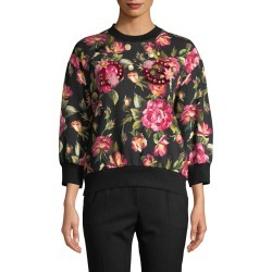 Dolce & Gabbana Embellished Floral Sweatshirt found on Bargain Bro Philippines from Gilt for $805.99