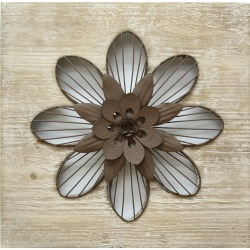 Stratton Home Decor Rustic Flower Wall Decor found on Bargain Bro India from Gilt for $29.99