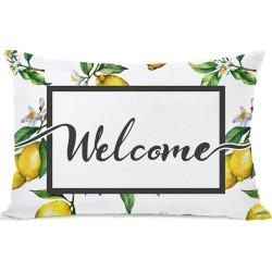 One Bella Casa Welcome Lemon Outdoor Pillow
