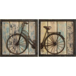 Stratton Home Decor Set of 2 Rustic Bicycle Wall Decor found on Bargain Bro India from Gilt for $89.99