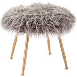 Imax Worldwide Home Vadden Fuzzy Stool