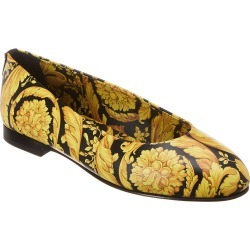 Versace Barocco Print Leather Ballerina Flat found on Bargain Bro Philippines from Gilt for $549.99