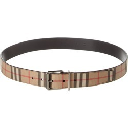 Burberry Buckle Vintage Check E-Canvas Belt found on Bargain Bro India from Ruelala for $319.99