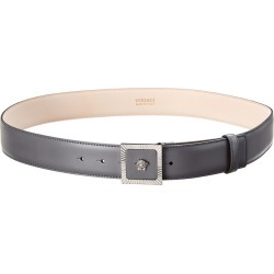Versace Square Medusa Leather Belt found on Bargain Bro India from Gilt City for $236.00