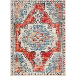 Surya Bohemian Machine Woven Rug found on Bargain Bro India from Gilt for $79.99
