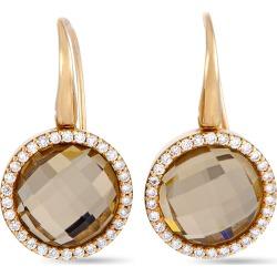 Roberto Coin 18K Rose Gold 9.99 ct. tw. Diamond & Quartz Earrings