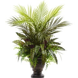 Nearly Natural 27in Mixed Areca Palm, Fern & Peacock with Planter found on Bargain Bro India from Gilt City for $69.99
