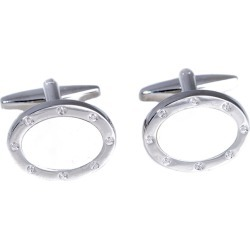 Bey-Berk Rhodium Plated Cufflinks found on MODAPINS from Gilt City for USD $29.99