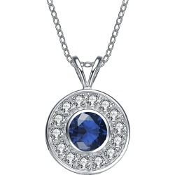 Genevive Silver CZ Necklace found on Bargain Bro India from Gilt for $32.99