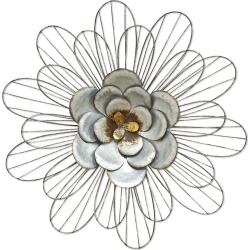Stratton Home Decor Galvanized Daisy Wall Decor found on Bargain Bro India from Gilt for $39.99