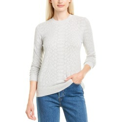 Minnie Rose Tonal Mesh Snakeskin Sweater found on Bargain Bro India from Gilt City for $59.99