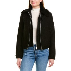 Helmut Lang Tweed Leather -Trim Wool-Blend Bomber Jacket found on MODAPINS from Gilt for USD $269.99