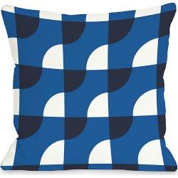 """One Bella Casa """"Blue Janelle"""" Decorative Pillow"""