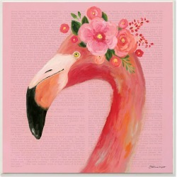 Stupell Floral Flamingo Pink Portrait by Stephanie Workman Marrott
