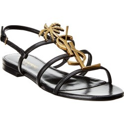 Saint Laurent Cassandra Leather Sandal found on Bargain Bro Philippines from Ruelala for $639.99